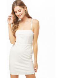 d2721c610dc Lyst - Forever 21 Strapless Flounce Bodycon Dress in White
