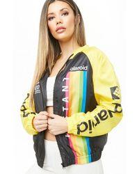 7f020413a253be Forever 21 - Women s Polaroid Colorblock Windbreaker Jacket - Lyst