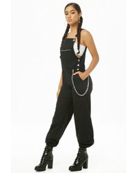 Forever 21 - Women's Zip-pocket Dungaree Jogger Trousers - Lyst