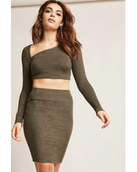 Forever 21 | Marled Stretch Knit Skirt | Lyst