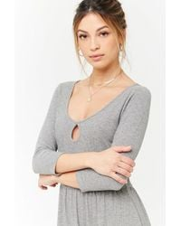 Forever 21 - Women's Ribbed Knit Keyhole Dress - Lyst