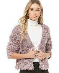 Forever 21 - Multicolor Fuzzy Knit Cardigan - Lyst