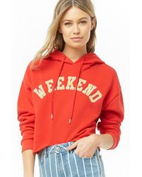 Forever 21 - Hooded Weekend Graphic Top - Lyst