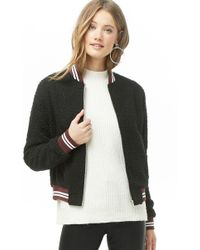 Forever 21 - Faux Shearling Varsity Jacket - Lyst