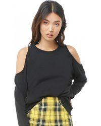 Forever 21 - French Terry Open-shoulder Top - Lyst