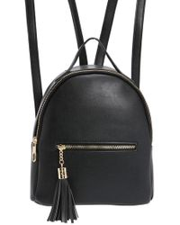 Forever 21 - Zippered Faux Leather Backpack - Lyst