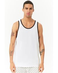Forever 21 - 's Contrast Trim Tank Top - Lyst