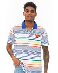 65c446d9d Fred Perry French Navy Gingham Print Pique Polo Shirt in Blue for ...