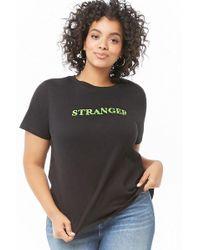 a9da6782 Forever 21 - Women's Plus Size Stranger Graphic Tee Shirt - Lyst