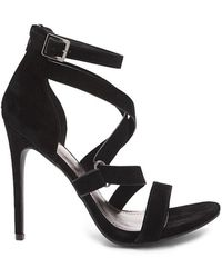 FOREVER21 - Shoe Republic Faux Suede Strappy Heels - Lyst