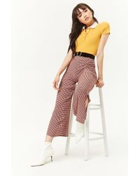 Forever 21 - Multicolor Houndstooth Palazzo Pants - Lyst
