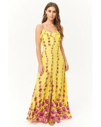 Forever 21 - Floral Button-front Maxi Dress - Lyst