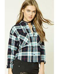 Forever 21 - Women's Tartan Check Flannel Shirt - Lyst