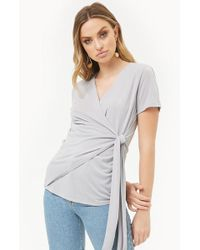 Forever 21 - Draped Faux-wrap Top - Lyst