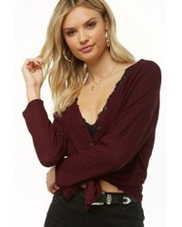 Forever 21 - Waffle Knit Button-up Top - Lyst