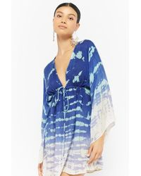 Forever 21 - Boho Me Plunging Tie-dye Dress - Lyst
