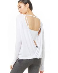 9e8fbabee71 Forever 21 Lace Back Ribbed Tank in White - Lyst