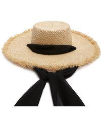 Forever 21 - Chiffon Band Straw Hat - Lyst