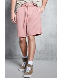 Forever 21 - Mineral Wash Fleece Shorts - Lyst