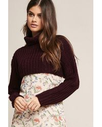 Forever 21 - Sweater-knit Crop Top - Lyst