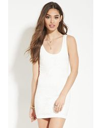 Forever 21 - Textured Bodycon Dress - Lyst