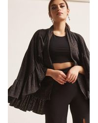 Forever 21 - Ruffled Knit Cape - Lyst