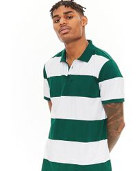 Forever 21 - 's Striped Knit Polo Shirt - Lyst