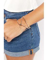 Forever 21 - Cutout Cuff Bracelet - Lyst