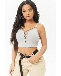 Forever 21 - Strappy Crisscross Cropped Cami - Lyst