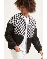 Forever 21 - Checkered-panel Track Jacket - Lyst