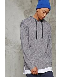 Forever 21 - Marled Hooded Pullover - Lyst