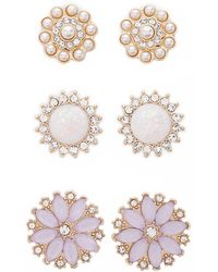 Forever 21 - Flower Stud Earring Set - Lyst