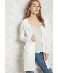 Forever 21 | Longline Ribbed Cardigan | Lyst