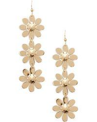 Forever 21 - Flower Drop Earrings - Lyst