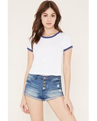 Forever 21 - Button-fly Denim Shorts - Lyst