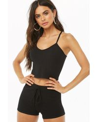Forever 21 - Ribbed Crop Cami & Shorts Set - Lyst