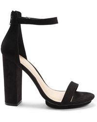 Forever 21 - Faux Suede Chunky Heels - Lyst