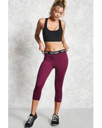 Forever 21 - Active Capri Leggings - Lyst