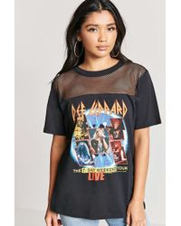 Forever 21 - Def Leppard Graphic Tour Tee - Lyst