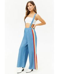 Forever 21 - Chambray Suspender Trousers - Lyst
