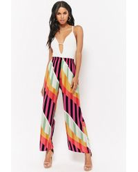 Forever 21 - Geometric Striped Palazzo Pants - Lyst