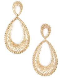 Forever 21 - Wire Oval Drop Earrings - Lyst