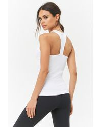 Forever 21 - Active Seamless Ribbed Racerback Tank Top - Lyst