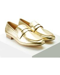 Forever 21 - Metallic Faux Leather Loafers - Lyst