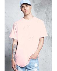 Forever 21 - T-shirt effetto consumato - Lyst