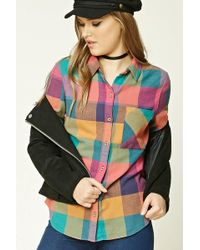 Forever 21 | Buffalo Check Flannel Shirt | Lyst