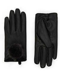 Forever 21 - Pom-pom Faux Leather Gloves - Lyst