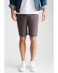 Forever 21 | Cuffed Chino Shorts | Lyst