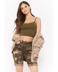 Forever 21 - Distressed Camo Bermuda Shorts - Lyst