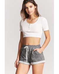 Forever 21 - Marled Drawstring Shorts - Lyst